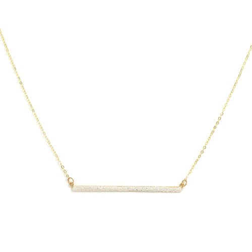 Italian Made - 9K Yellow Gold Bar Necklace (Size 18)