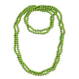 Hongkong Show Deal Green Howlite Beads Necklace (Size 100) 879.500 Ct.