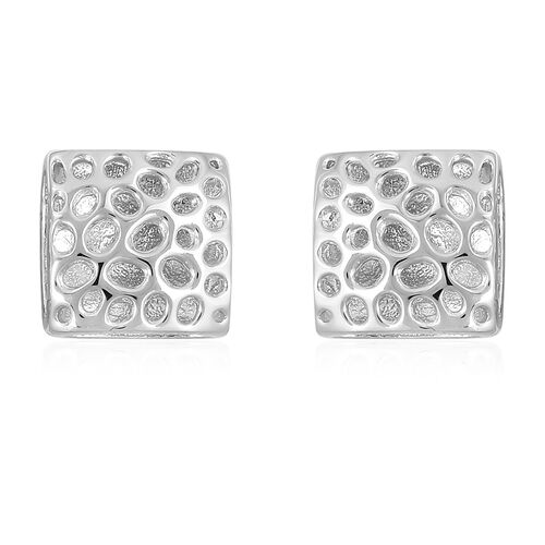 WEBEX- Rachel Galley Rhodium Plated Sterling Silver Lattice Honeycomb Earrings, Silver wt 5.23 Gms.