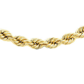 9K Yellow Gold Rope Chain (Size 28), Gold wt 15.00 Gms