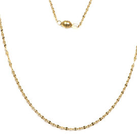 Italian Made 9K Yellow Gold Necklace (Size 18) with Magnetic Lock