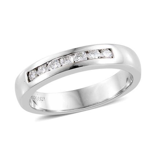 RHAPSODY 0.25 Ct Diamond Eternity Band Ring in 950 Platinum IGI Certified VS EF
