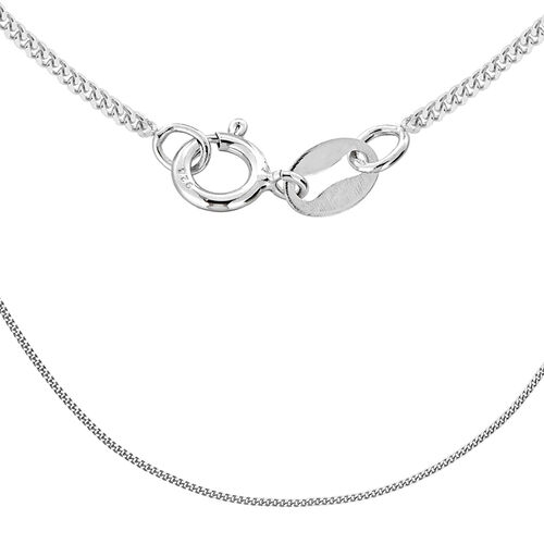 Sterling Silver Panza Curb Chain (Size 18)