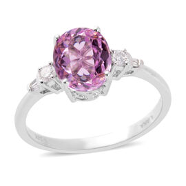 Close Out Deal - Iliana AAA Kunzite (3.35 Ct) and Diamond (SI / G-H) 18K W Gold Ring  3.500  Ct.
