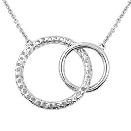 RACHEL GALLEY Allegro Collection - Rhodium Overlay Sterling Silver Circle Link Pendant with Chain (S