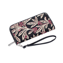 Signare - NEW Long Zip Round Wallet in Golden Fern design with RFID. (19.50 x 10 x 0.98 cms)
