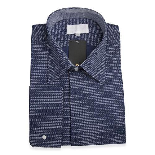 William Hunt Saville Row Forward Point Collar Dark Blue with White Shirt Size 16