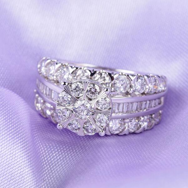 NY Close Out 14K White Gold Diamond (I1/G-H) Ring 2.50 Ct,  FREE RESIZING Sizes L to Q