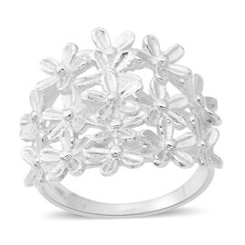 Sterling Silver Flower Ring, Silver wt 5.50 Gms.