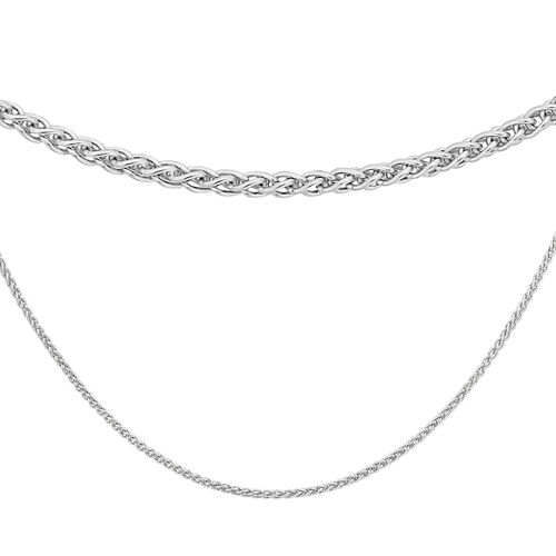 Sterling Silver Spiga Chain (Size 20), Silver wt 3.00 Gms
