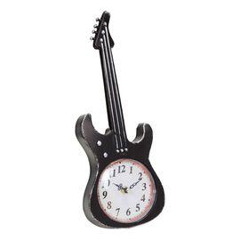 Vintage Black Guitar Mantel Clock