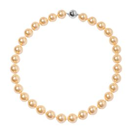 Golden Shell Pearl (Rnd 13-15 mm) Necklace (Size 20) with Magnetic Lock