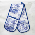 Pimpernel Blue and White Italian Double Oven Glove (Size 88x18.5cm)