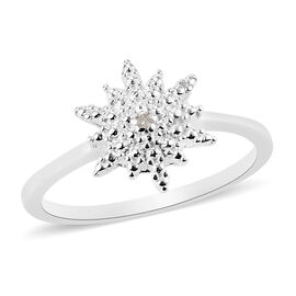 Diamond Starburst Ring in Sterling Silver