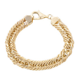 Royal Bali Collection - 9K Yellow Gold Curb Bracelet (Size 8.5), Gold wt 20.50 Gms.