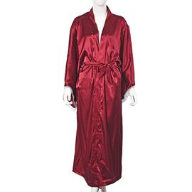 Solid Wine Colour Satin Feel Long Kimono (Size 65x130 Cm)