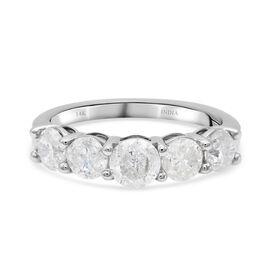 14K White Gold White Certified Diamond (I1-I2/G-H) Ring 2.00 Ct.