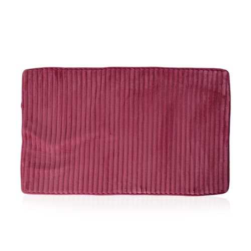3 Pcs Bath Set - Pink Colour Bath Mat (Size 80x50 cm), Toilet Cover (Size 50x40 cm) and Mat (80x50 cm)