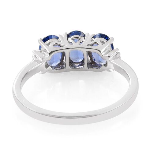 RHAPSODY 950 Platinum AAAA Ceylon Blue Sapphire (Ovl), Diamond (VS/E-F) Ring 2.250 Ct.
