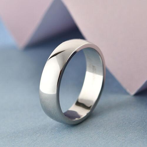 Personalise Engravable 950 Platinum 4.7mm Band Ring, Platinum