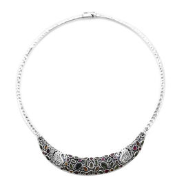 Bali Legacy Collection Multi-Tourmaline Necklace (Size 18) in Sterling Silver 14.20 Ct, Silver wt. 5