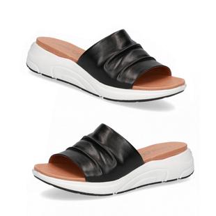 CAPRICE Mule Flat Slippers  Black Nappa