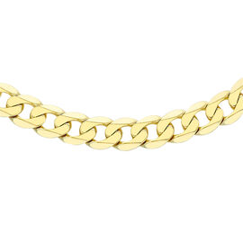 Hatton Garden Close Out Curb Chain Necklace in 9K Gold 22 Inch