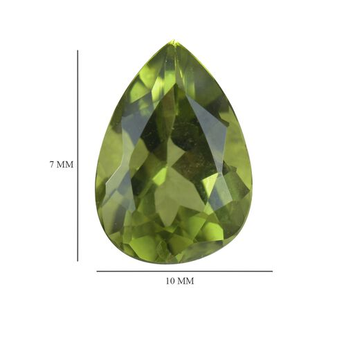AA Peridot Pear 10x7 Faceted 2.10 Cts