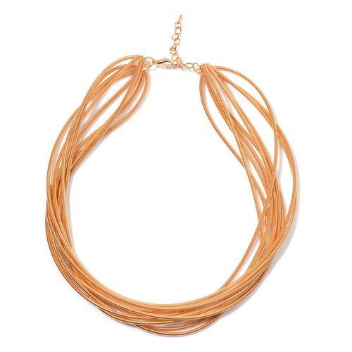 Multi Strand Necklace (Size 18) in Gold Tone