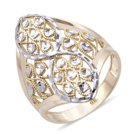Royal Bali Collection 9K Yellow and White Gold Ring (Size L), Gold wt 3.08 Gms.