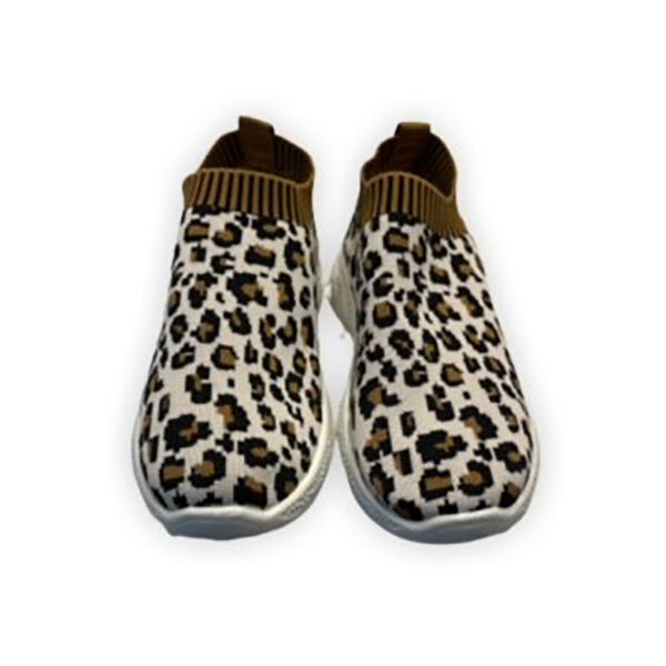 Leopard Pattern Slip-On Trainer (Size 3) - Black & Brown