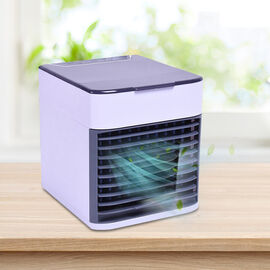3 -In -1 Portable Air Cooler, Humidifier and Purifier with Colour Changing LED and USB Cable - White