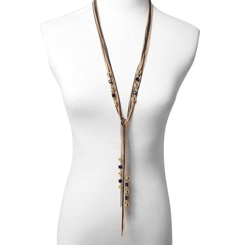 Multi Layer Strand Necklace in Dual Tone 36 with 2 inch Extender