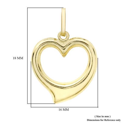9K Yellow Gold Open Heart Pendant