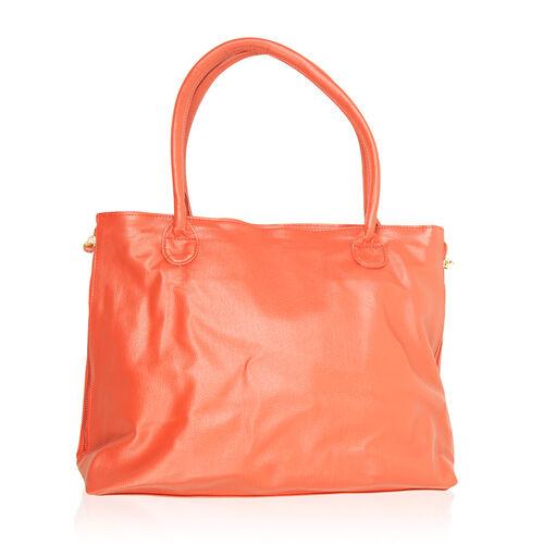 Tangerine Colour Hand Bag (Size 16x12x5.4 inch)