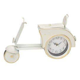 DOD - Vintage Cream & Gold Scooter Mantel Clock