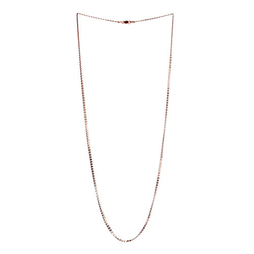 Rose Gold Overlay Sterling Silver Mariner Chain (Size 30).Silver Wt 4.90 Gms