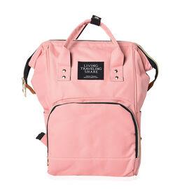 Light Pink Colour Multi Pocket Backpack with Zipper Closure and Adjustable Shoulder Strap (Size 36x1