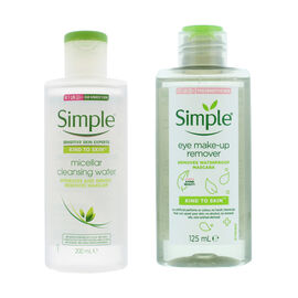 Simple: Micellar Face Cleanser - 200ml & Eye Make-up Remover - 125ml (Set)