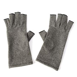 Compression Gloves with PVC Grip and Open Fingers (Size L)