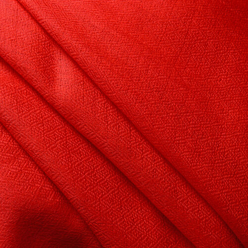 100% Cashmere Wool Red Colour Scarf (Size 200x70 Cm)