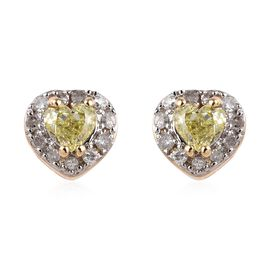 Diamond 9K Y Gold Earring  0.400  Ct.