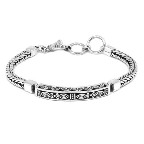 Royal Bali Collection Sterling Silver Bracelet (Size 7.5), Silver wt 24.40 Gms.