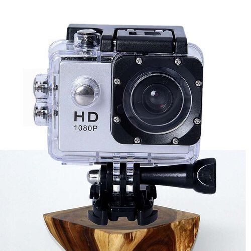 Waterproof 1080P HD Action Camera 120 Degree Wide Angle Lens with 400mAh Battery, 4GB Card, USB Cabl
