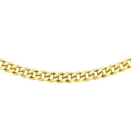 9K Yellow Gold Diamond Cut Curb Chain (Size 18),  Gold wt 2.50 Gms