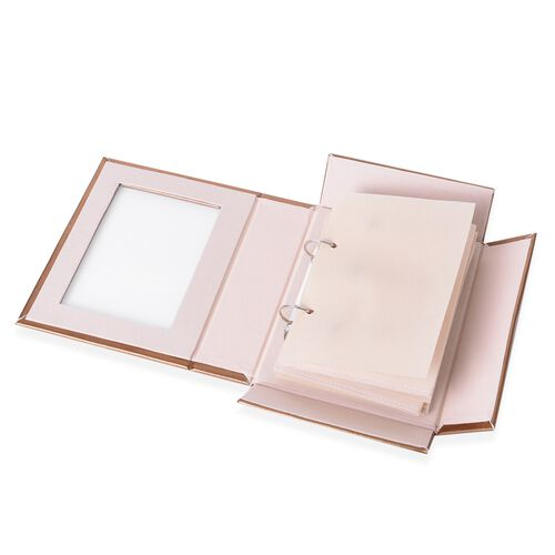 TJC - Gold Colour 4-Page Jewellery Book (Size 22x18x6.3 Cm)