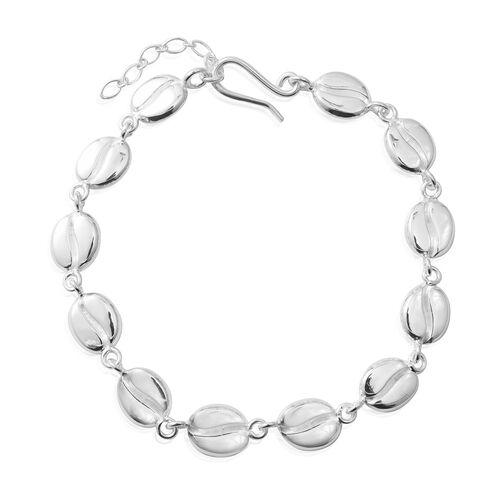 Designer Inspired- High Polished Sterling Silver Beads Extendable Bracelet (Size 7.5 with 1 inch Extender), Silver wt 8.50 Gms.
