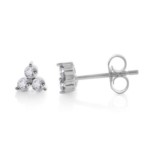 9K White Gold SGL Certified Diamond (Rnd) (I3 G-H) Stud Earrings (with Push Back)