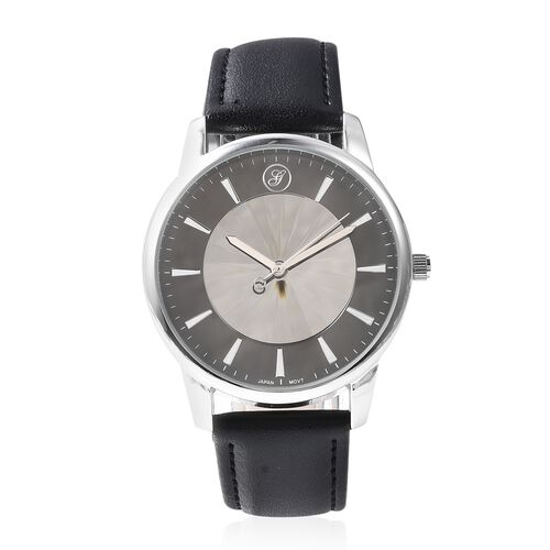 GENOA Japanese Movement Water Resistant Watch in Stainless Steel - Black