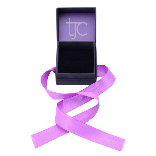 Luxury Black Ring Gift Box With Purple Ribbon [5.4x4.9x4cm]